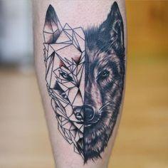 Wolf Tattoo Back, Small Wolf Tattoo, Wolf Tattoo Sleeve, Sleeve Tattoos, Tattoo Wolf, Wolf Tattoo Design, Tattoo Designs, Celtic Tribal Tattoos, Violin Tattoo