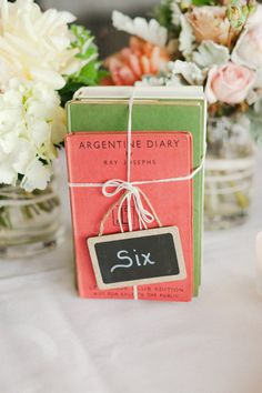 BOOKS centerpiece - Port Phillip Estate Wedding from Kate Robinson Photography