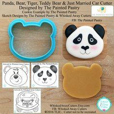 Panda Bear Tiger Teddy Bear & Just Married by WhiskedAwayCutters