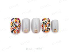 #gray #marble art #nail