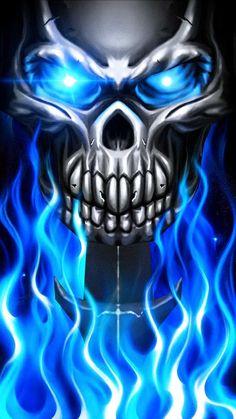 Horror Artwork, Skull Artwork, Metal Artwork, Eagle Tattoos, Skull Tattoos, Body Art Tattoos, Skull Fire, Metal Skull, Totenkopf Tattoos