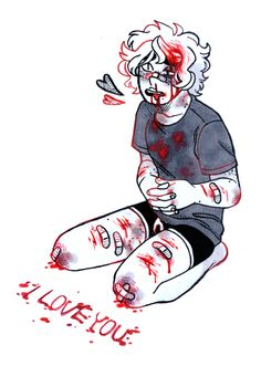 Bloody abused boy gore Guro art