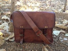 leather messenger bag leather satchel handmade by pinnacleleather, $50.00