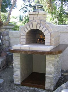 Customer submitted photos of their DIY Mattone Barile brick pizza oven - America's wood fired pizza oven! of brick pizza oven images & videos too! Backyard Garden Landscape, Large Backyard, Backyard Bbq, Garden Ponds, Rustic Backyard, Landscape Bricks, Backyard Kitchen, Gravel Garden, Balcony Garden