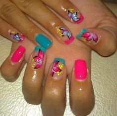 Beautiful Nail Designs To Finish Your Wardrobe – Your Beautiful Nails Get Nails, Fancy Nails, Pretty Nails, Classy Nails, Beautiful Nail Designs, Cute Nail Designs, Bright Nail Designs, Manicure Y Pedicure, Manicure Ideas