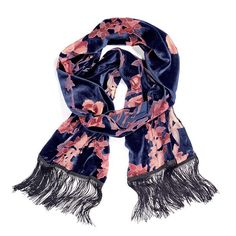 Camellia flowers, a fave in Chinese gardens, shows up in coral print on this mark. Rush of Lush Scarf. The trim on each side is black. Feels like posh burnout velvet. Regularly $20.00, shop Avon Fashion online at http://eseagren.avonrepresentative.com