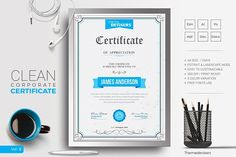 Certificate Template by ThemeDevisers on @creativemarket
