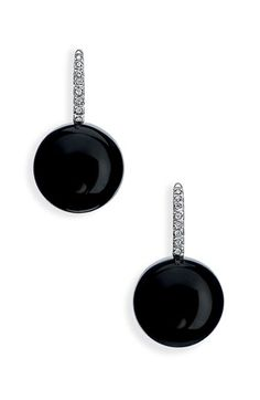 Ivanka Trump 'Black  White' Stone  Diamond Drop Earrings.