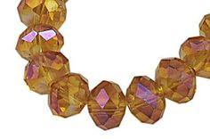 Crystal Beads AB Crystal Faceted Rondelle Dark by sedonastonesllc