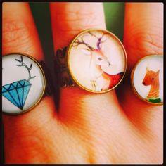 Anillos renos y diamantes