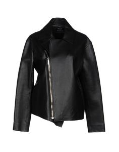 Leather No appliqués Solid color Single-breasted Zip Lapel collar No pockets Long sleeves Unlined Contains non-textile parts of animal origin Biker style Anthony Vaccarello, Biker Style, Jackets For Women, Leather Jacket, Coat, Long Sleeve, Single Breasted, Sleeves, Clothes