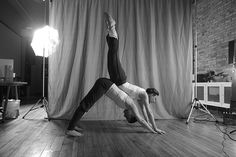 partner yoga... haha, wonder if Justin would do a partner yoga tape with me some day