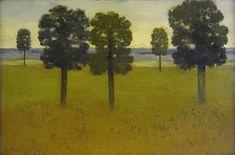 "Albert York, Trees and Distant Hills, East Hampton, 8 x 12"""