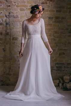 Vintage non-corset wedding dress