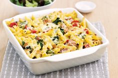 This tuna and pesto pasta bake is easy to make and makes for great leftovers the next day.