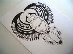 Scarab beetle, this would make a nice tattoo.