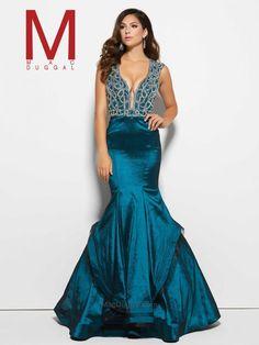 Peacock Prom Dress   Mac Duggal 48409M