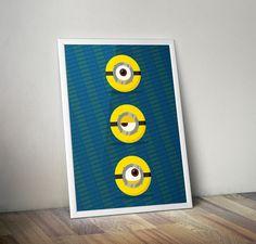 #minimal #minions #poster #design   #illustration