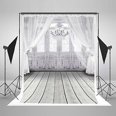 Photo Background 7x5 White Curtains Green Forest Indoor Backdrops for Wedding Photoshoot No Wrinkle Photographic Studio Background Custom Size