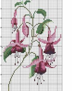 Küpe çiçeği #crosstitch #crossstitcher #etamin #kanavice #pano #homesweethome #çarpıişi #gül #rose #şablon #kanaviçeşablonu #dekorasyon #xstitch #bordür #pike #flowers #yastık #runner