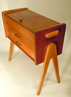 Cute sewing cupboard Dutch design from the early 1960s [lab coco vintage mid century modern retro sixties]