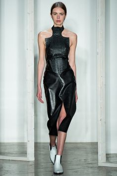 Dion Lee   Fall 2014 Ready-to-Wear Collection   interesting cut on the halter