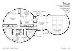 3 (larger) bedrooms, 2 bath, 1275 sq. feet. nice layout | top home