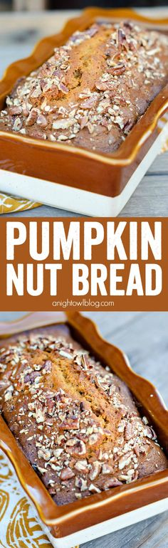 A seriously Easy Pumpkin Nut Bread recipe that you can whip up in ONE BOWL in just minutes! Your friends will be begging you for this recipe!