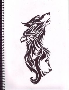 This is all three symbols that make me who I am...the lion, eagle and wolf.