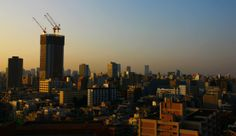 Sunrise in Shinjuku, Japan. 17jun14.