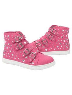 Sequin Buckle High Top Sneakers   Girls Sneakers Shoes   Shop Justice