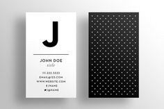 The Main Initial Business Card Template $6  INSTANT DOWNLOAD by SOCALARTS on Etsy.