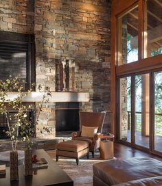 Love the stone wall! Makes a great statement