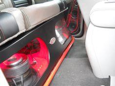 Custom crew cab sub box plexiglass Gallery - SEMA Show Builds - Sound Advice