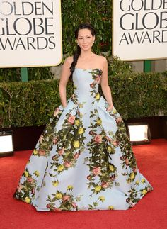 "Lucy Liu in Carolina Herrera  I know some people didn't like this dress but I thought it was a ""breath of fresh air""."
