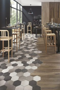 Hardwood & Hexagonal Tile Transition