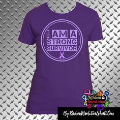 I am a Strong Survivor Shirts for Chiari Malformation, Crohn's Disease, Cystic Fibrosis, Epilepsy, Fibromyalgia, GIST Cancer, ITP (Idiopathic thrombocytopenic purpura), Leiomyosarcoma, Lupus, Pancreatic Cancer, Pancreatitis, Sarcoidosis, Sjogren's Syndrome and Ulcerative Colitis Awareness.