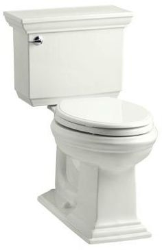 Kohler K-3817-0 White Memoirs Stately 1.28 GPF Two-Piece Elongated Comfort Height Toilet with AquaPiston Technology - Seat Not Included - FaucetDirect.com