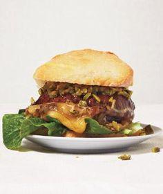 Vegetarian: Mushroom Burger With Fontina and Cornichon Relish recipe