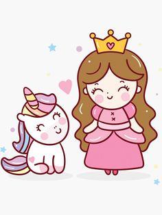 Unicorn Wallpaper Cute, Hello Kitty Wallpaper, Cute Little Drawings, Cute Kawaii Drawings, Baby Unicorn, Unicorn Birthday, Cartoon Template, Unicornios Wallpaper, Birthday Cartoon