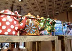 Alternative Traders High Tea in London at Cinnamon Bazaar teapots