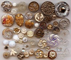56 Antique Vintage Modern Pictorial Buttons by rocketsredglare, $88.00