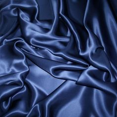 Airforce Blue silk satin fabric high quality manufactured in France Light Blue Aesthetic, Aesthetic Colors, Silk Satin Fabric, Blue Fabric, Silk Crepe, Sailor Uranus, Sailor Moon, Dying Of The Light, Air Force Blue