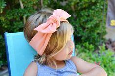 Peach Fabric Headwrap; Peach Stretch Fabric Baby Headwrap; Top Knot Baby Headband; Peach Headband; Baby Headband; Top Knot Headwrap by youmeandourbees on Etsy https://www.etsy.com/listing/238348980/peach-fabric-headwrap-peach-stretch