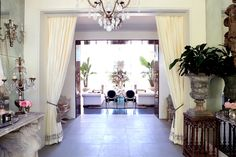 Lisa Vanderpump Villa Rosa - tour of her new house Villa Rosa, Lisa Vanderpump, Vanderpump Rules, Beverly Hills Mansion, Housewives Of Beverly Hills, Malibu Homes, Celebrity Houses, Real Housewives, Formal Living Rooms