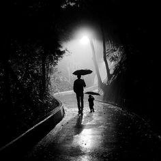 Photograph FATHER AND SON IN RAIN by hitesh malani by Hitesh Malani on 500px