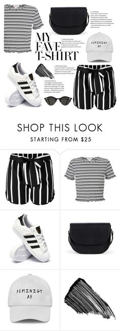 """""""Untitled #202"""" by amel-milano ❤ liked on Polyvore featuring Venus, Miss Selfridge, adidas, Sole Society, Sisley and MyFaveTshirt"""