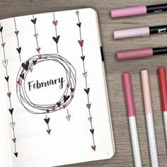 """""""the wait is over! my february plan with me + bullet journal setup is live! spolier alert: there…"""" """"the wait is over! my february plan with me + bullet journal setup is live! spolier alert: there…"""" Bullet Journal Inspo, Minimalist Bullet Journal, February Bullet Journal, Bullet Journal Cover Page, Bullet Journal 2020, Bullet Journal Notebook, Bullet Journal Spread, Bullet Journal Layout, Journal Covers"""