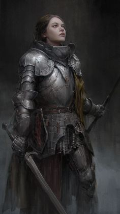 Art featuring medieval knights and their fantasy/sci-fi counterparts. Dnd Characters, Fantasy Characters, Female Characters, Fantasy Character Design, Character Concept, Character Art, Viking Character, Character Reference, Concept Art