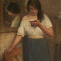 Léon Delachaux, Marie Martinet en manches de chemise, 1903